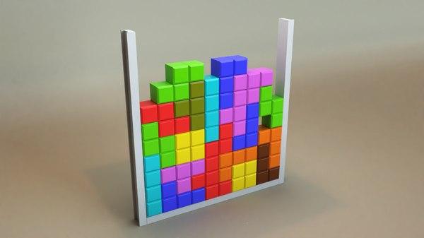 3D model tetris