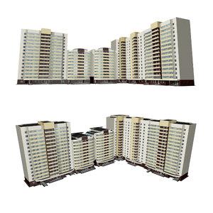 3D residential house multi-storey