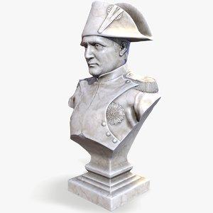 3D ready napoleon bonaparte bust