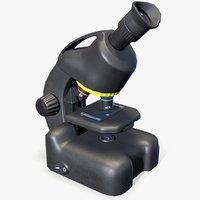 ready science microscope 3D model