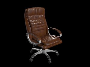3D model boss office leather chair
