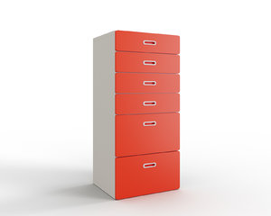 stuva fritids 6-drawer chest 3D