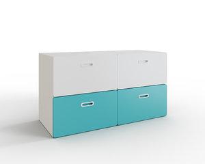 stuva fritids 4-drawer dresser 3D model