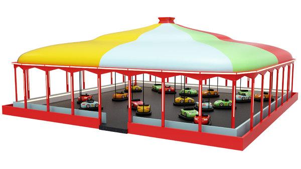 3D bumper cars model