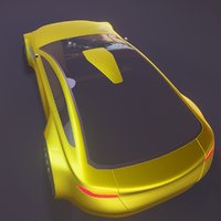 3D sports coupe model