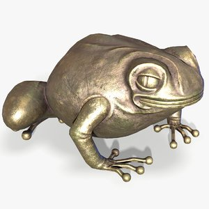 ready brass toad figurine model