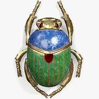 ready golden scarab jewellery 3D