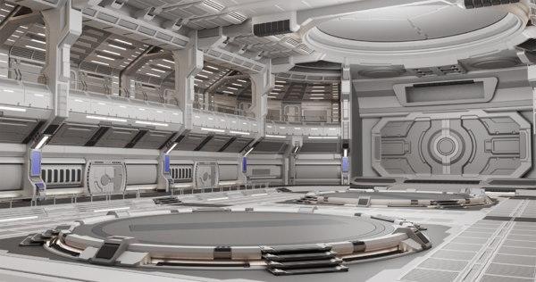 3D sci-fi scene renders- quantum
