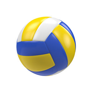 3D model volleyball white
