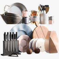realistic kitchen accessories 5 3D