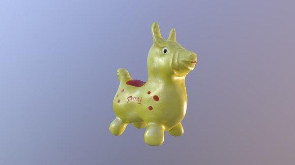 3D horse children toy