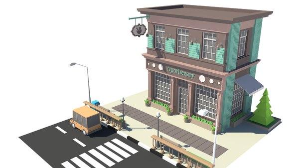 car apothecary 3D model