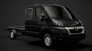 3D peugeot boxer manager chassis model