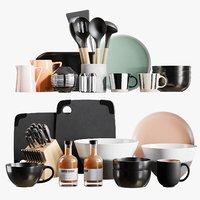 realistic kitchen accessories 6 3D