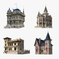 3D ancient luxury mansions model