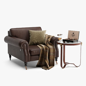 armchair english leather model