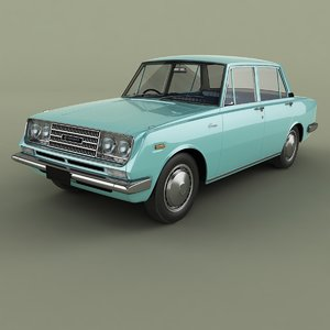3D 1965 toyota corona t40 model