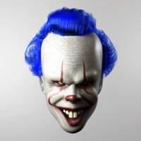 pennywise clown mask movie 3D