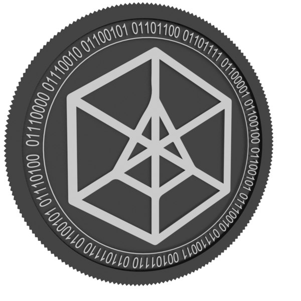 arcblock black coin 3D model