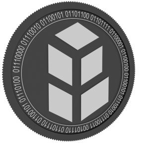 3D model bancor black coin