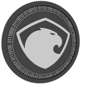 3D aragon black coin model