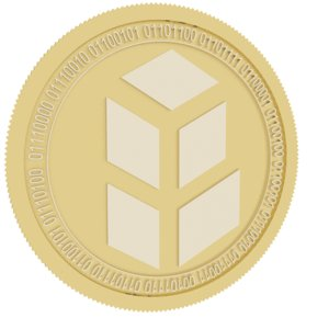 bancor gold coin 3D model