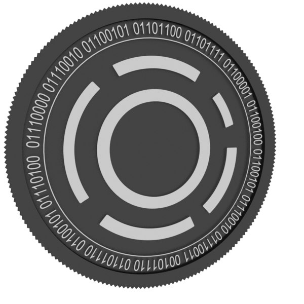 anion black coin 3D model