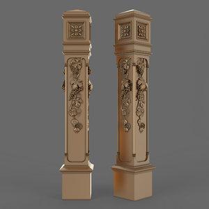 3D stair column
