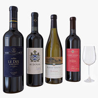 Wine bottle set 4