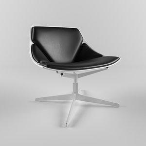 3D fritz hansen space chair model