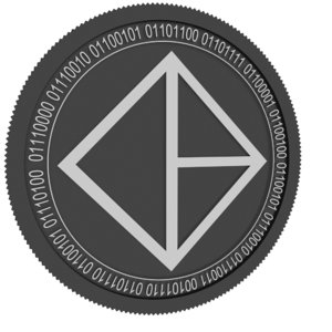 bitcapitalvendor black coin 3D model