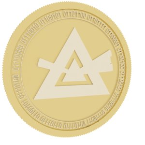 3D beam gold coin