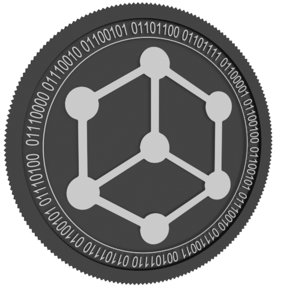 bibox token black coin 3D model