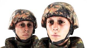 3D soldier bundeswehr uniform rigging