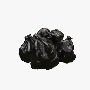 garbage bag 3D model