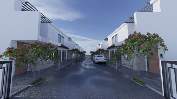 3D housing townhouses
