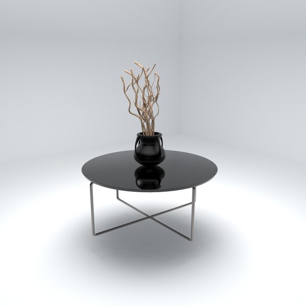 3D table vase branches model