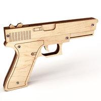 wooden gun 3D