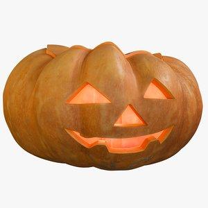 realistic pumpkin clean kind 3D model