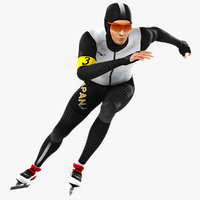 3D animations speed skater