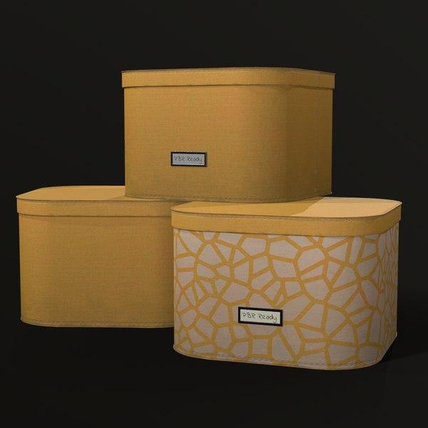 3D model fabric storage box