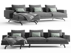 sofa mustique lema 3D model