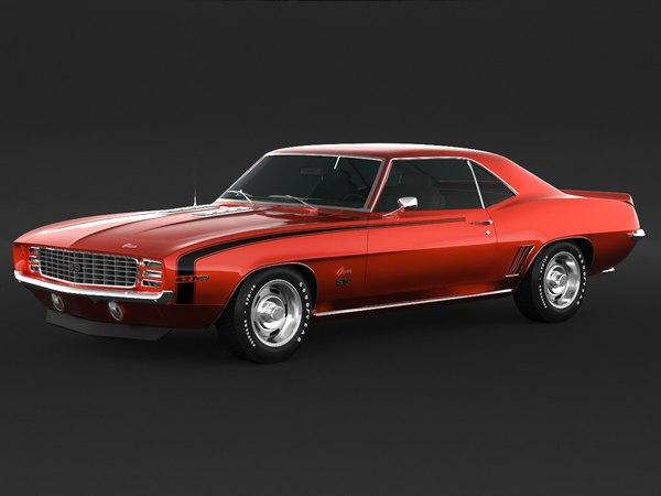 3D 1969 camaro ss model