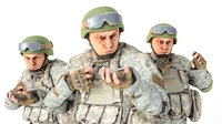 human soldier acu rigging 3D model