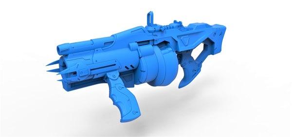 gun baptiste talon 3D model