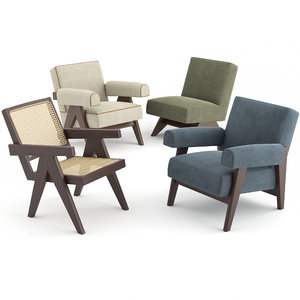 3D chairs le corbusier pierre