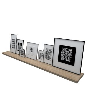 pictures shelf framed model