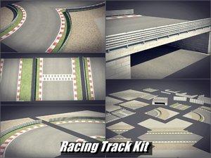 kit tracks racing 3D model