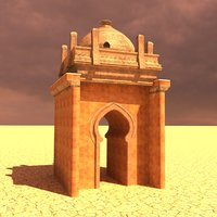 3D model desert gate