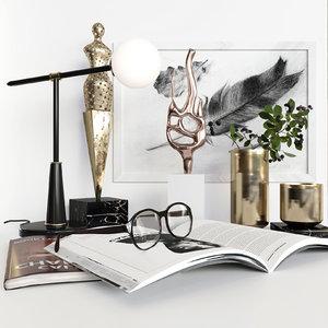 3D modern set model